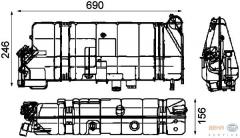 DAF/Mercedes/Evobus/Neoplan expansion tank (1426642 83512300000 3005001049 3575000249 3575000949 357