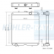Wasserkühler passend für Mitsubishi/SDMO