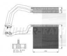 Verdampfer passend für Audi/ (8E1820103)