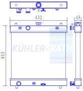 Kubota/Schaeff/Avant/Moffet/Denso Wasserkühler